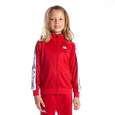 Kids Logo Tape Artem Track Jacket - Red White Black