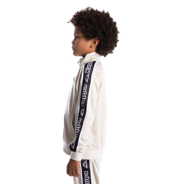Kids Logo Tape Artem Track Jacket - Grey Oyster Black White