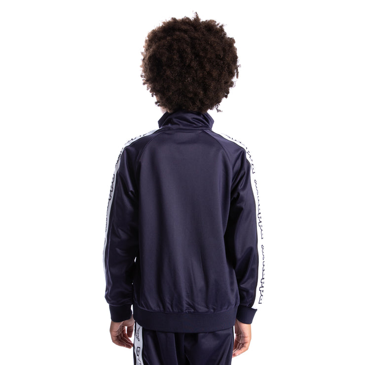 Kids Logo Tape Artem Track Jacket - Blue Marine White