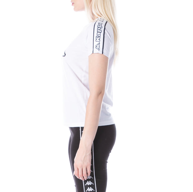 Logo Tape Amie T-Shirt - White