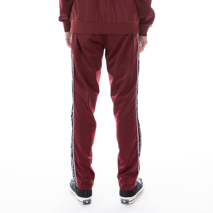 Logo Tape Aplec Trackpants - Red Bordeaux Black White