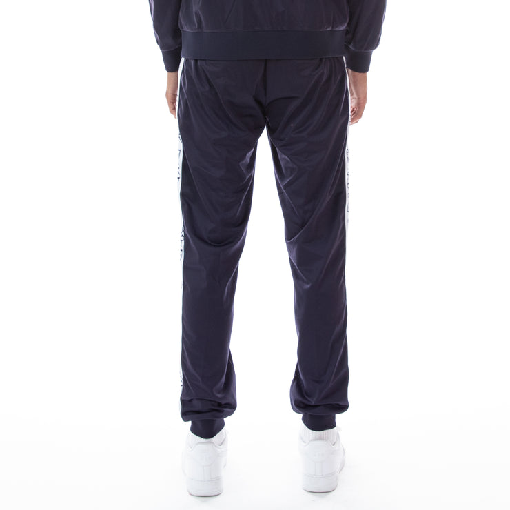 Logo Tape Alic Trackpants Blue Marine White