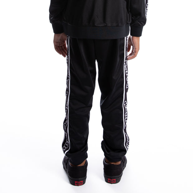 Kids Logo Tape Alic Trackpants - Black White