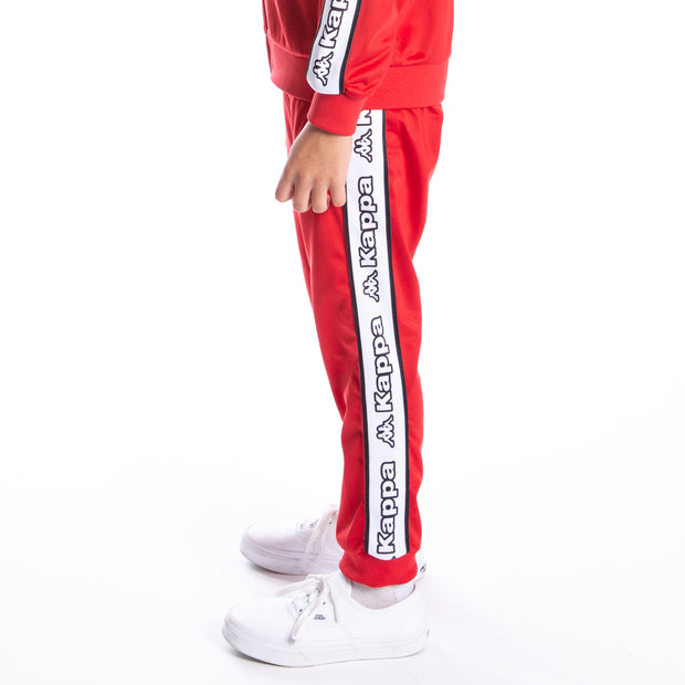 Kids Logo Tape Alic Trackpants - Red White Black