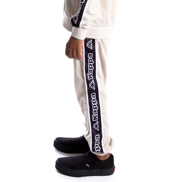 Kids Logo Tape Alic Trackpants - Grey Oyster Black White