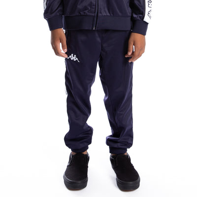 Kids Logo Tape Alic Trackpants - Blue Marine White