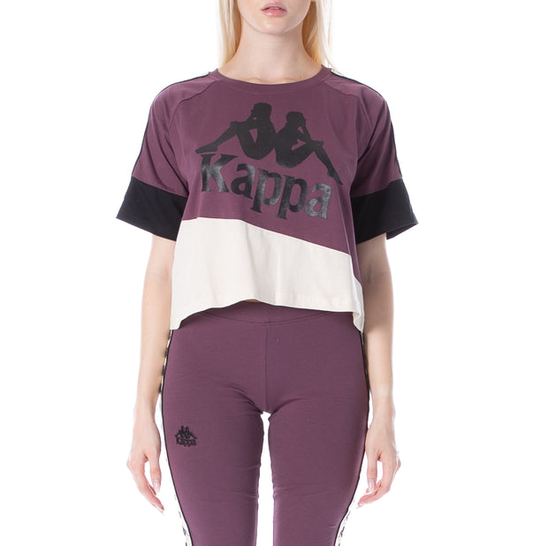 222 Banda Balimnos T-Shirt - Plum White Egg Black