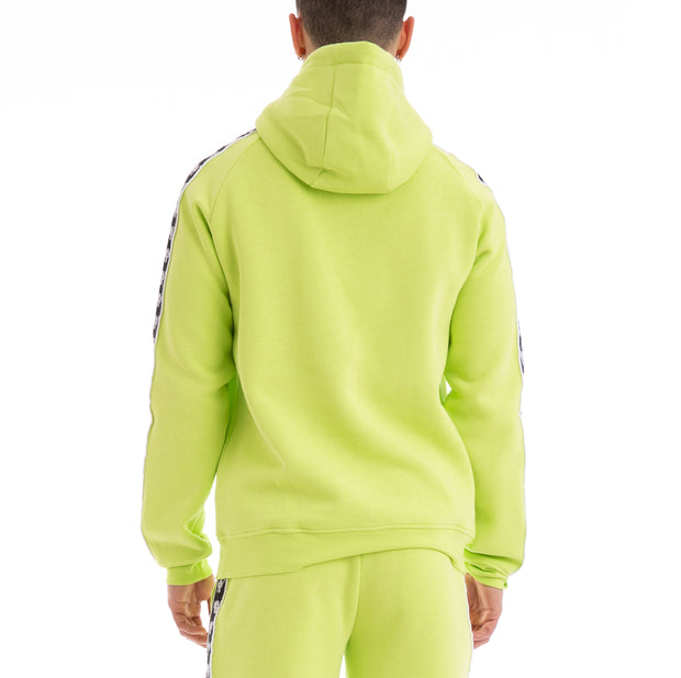 Kappa Authentic Baccello Up & Down Green Lime Black White Hoodie