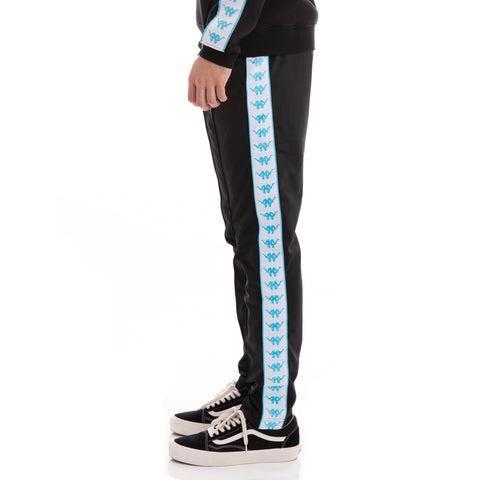 Authentic Bascile Up & Down Black White Turquoise Trackpants