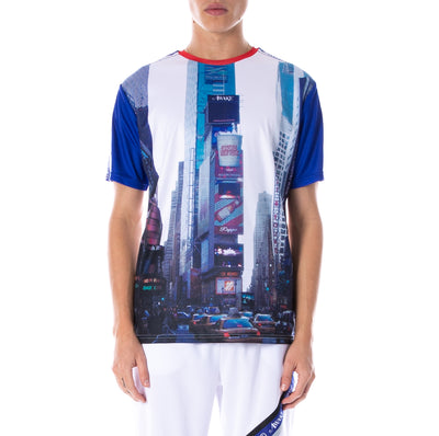 Awake NY x Kappa Evander Jersey White Royal Red