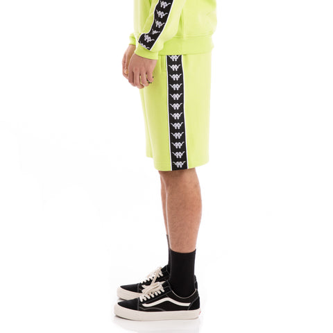 222 Banda Lith Up & Down Green Lime Black White Shorts