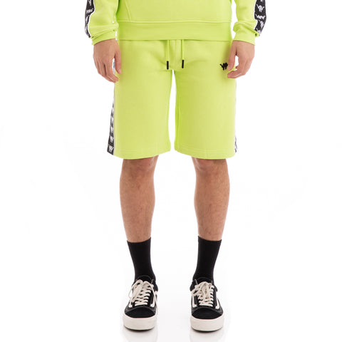 Kappa 222 Banda Lith Up & Down Green Lime Black White Shorts