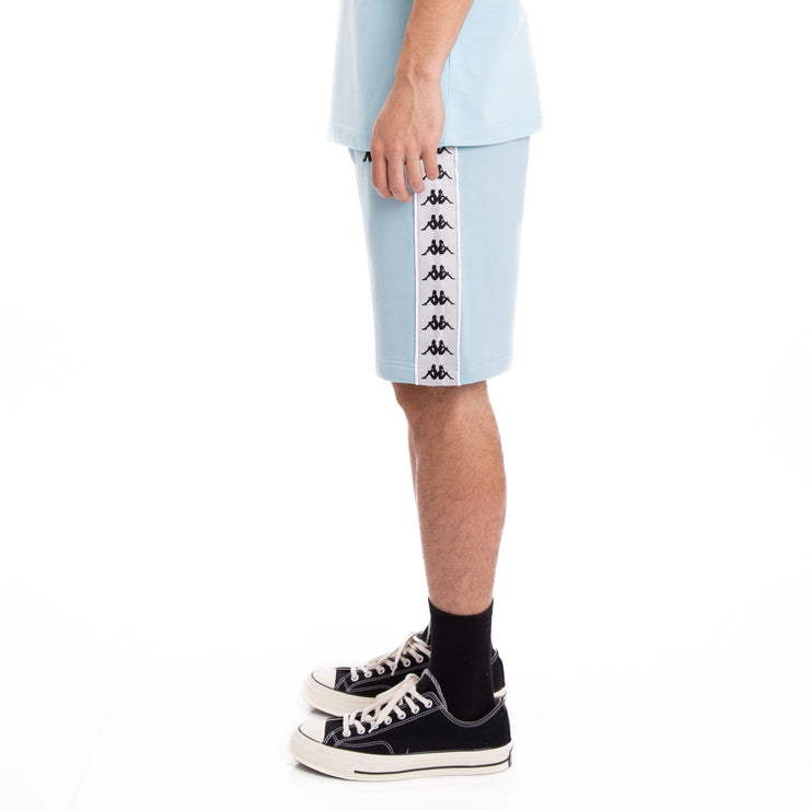 Kappa 222 Banda Marvz Azure Grey Silver Black Shorts