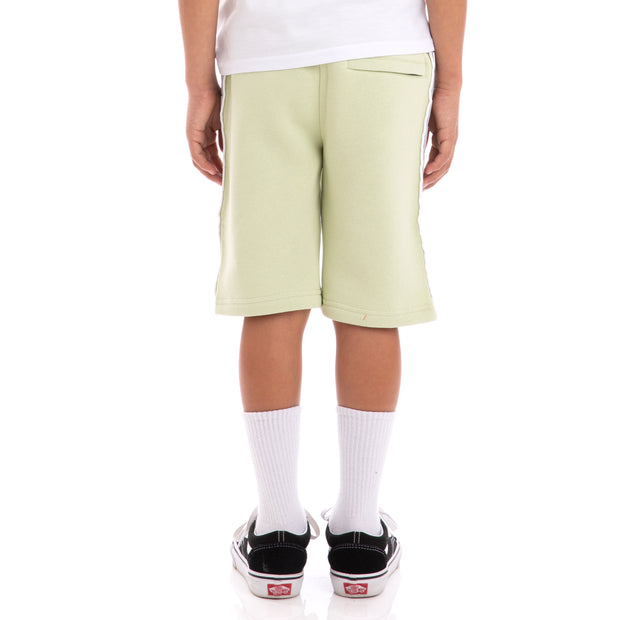 Kappa Kids 222 Banda Marvz Green Greysilver Black Sweat Shorts