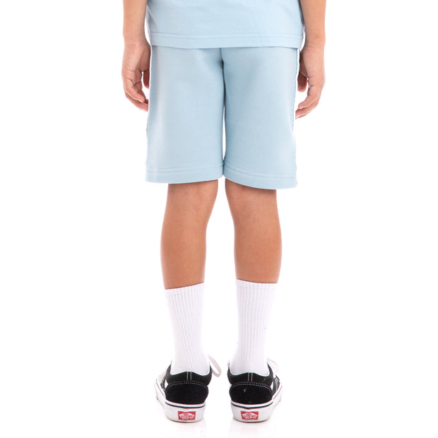 Kappa Kids 222 Banda Marvz Azure Greysilver Black Sweat Shorts