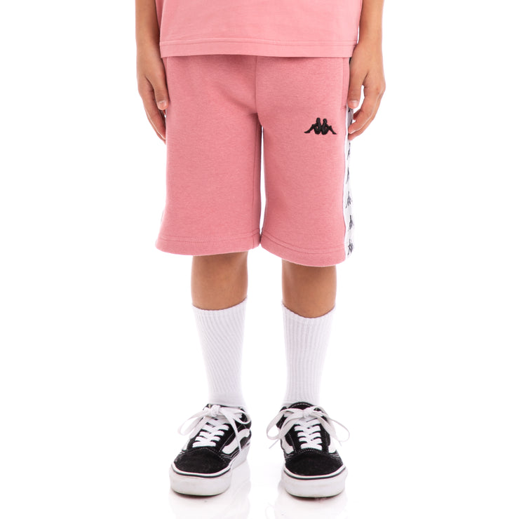Kids Kids 222 Banda Marvz Pink Greysilver Black Sweat Shorts