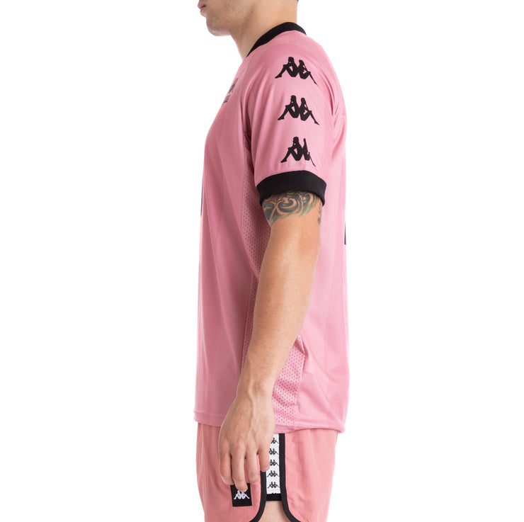 Kappa Authentic Tabe Pink Black Jersey