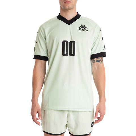 Kappa Authentic Tabe Green Lt Black Jersey