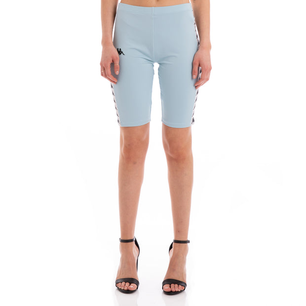 Kappa 222 Banda Cicles Azure Greysilver Black Bike Shorts