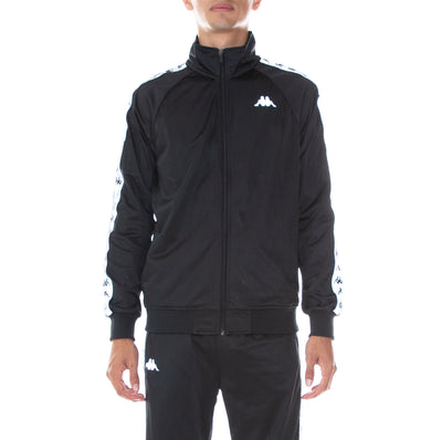 222 Banda Joseph Reflective Track Jacket - Black Grey Reflective