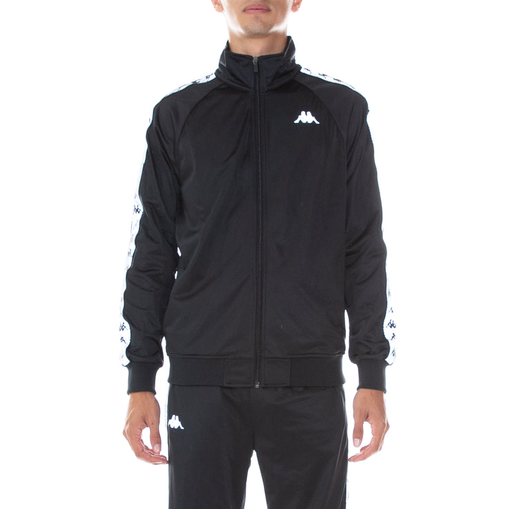 222 Banda Joseph Reflective Track Jacket Black Grey Reflective