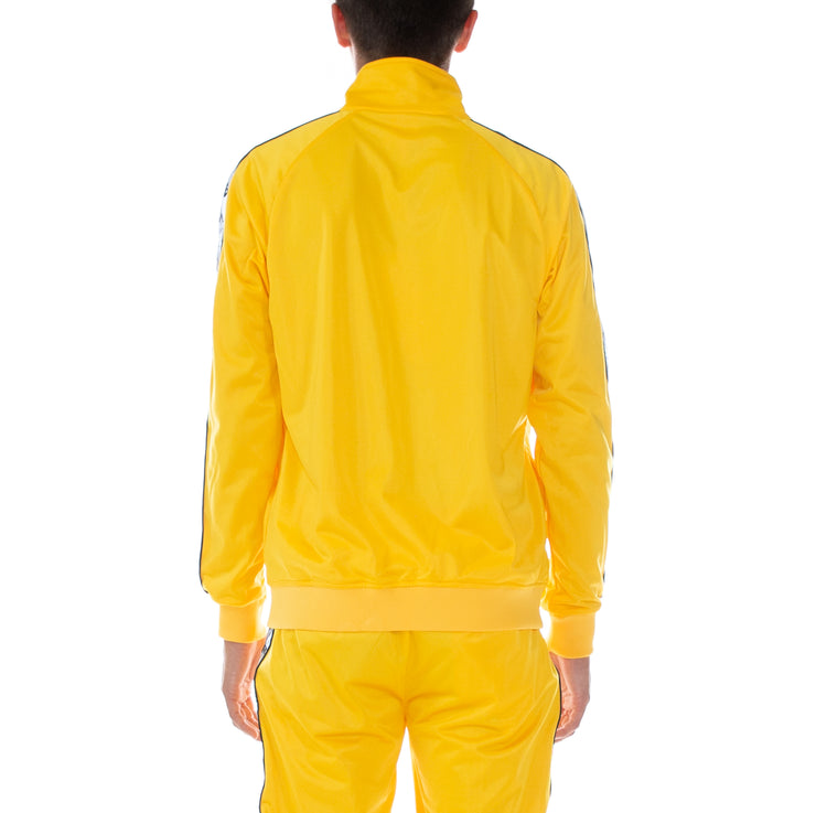 222 Banda Joseph Reflective Track Jacket Yellow Grey Reflective