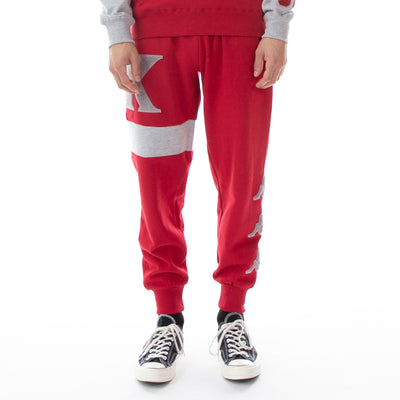 Authentic Bartus Sweatpants - Red Dk Grey Lt Mel