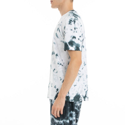 Kappa Authentic Dami Marbled T-Shirt - White Black