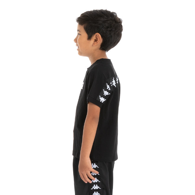 Kids 222 Banda Daffon T-Shirt - Black White