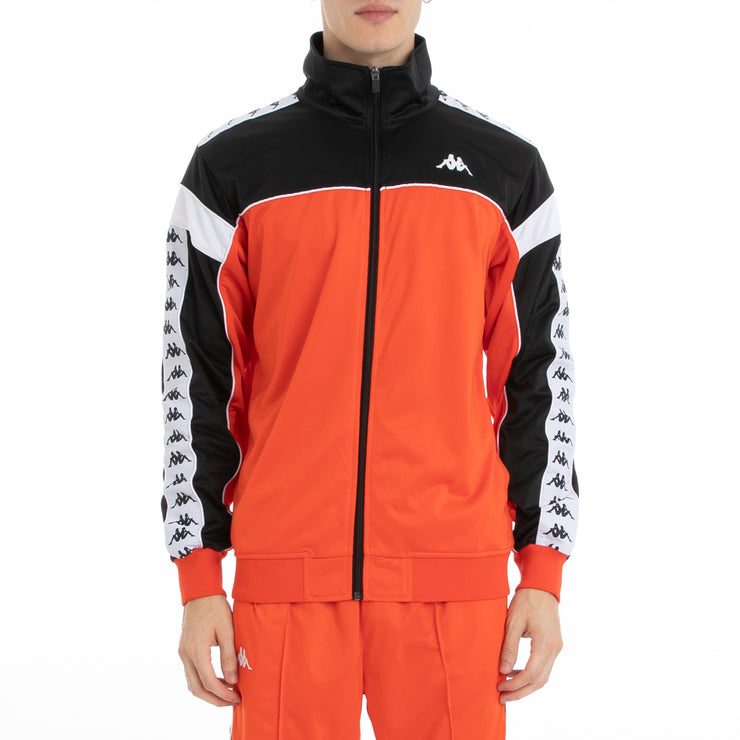 Kappa 222 Banda Merez Track Jacket - Orange Flame Black White