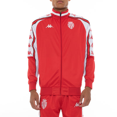 222 Banda 10 Ahran Retro Monaco Track Jacket - Red White