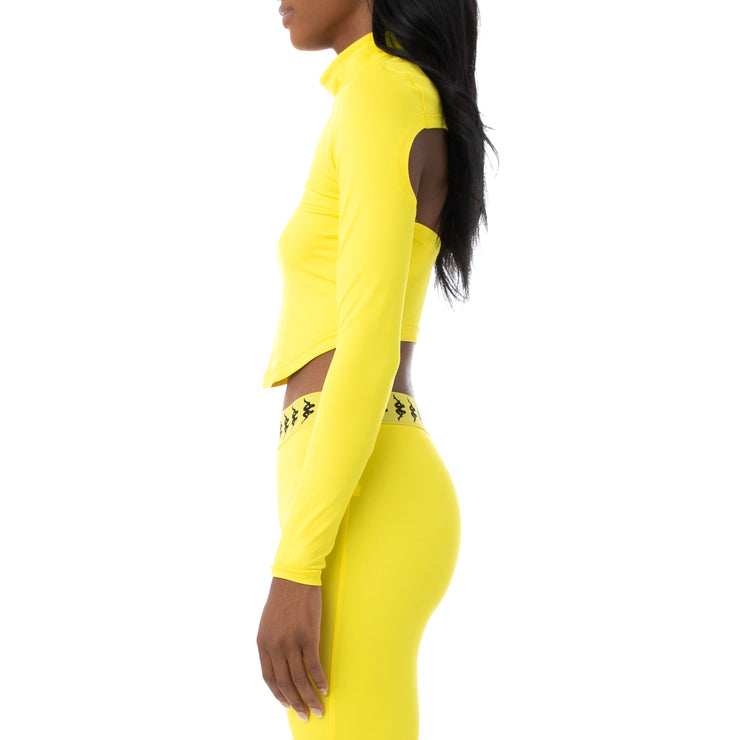Authentic Drijy Crop Top - Yellow Fluo Black