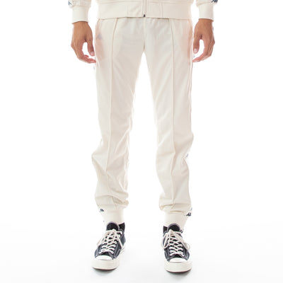 222 Banda Deky Trackpants - White Egg Illusion Blue