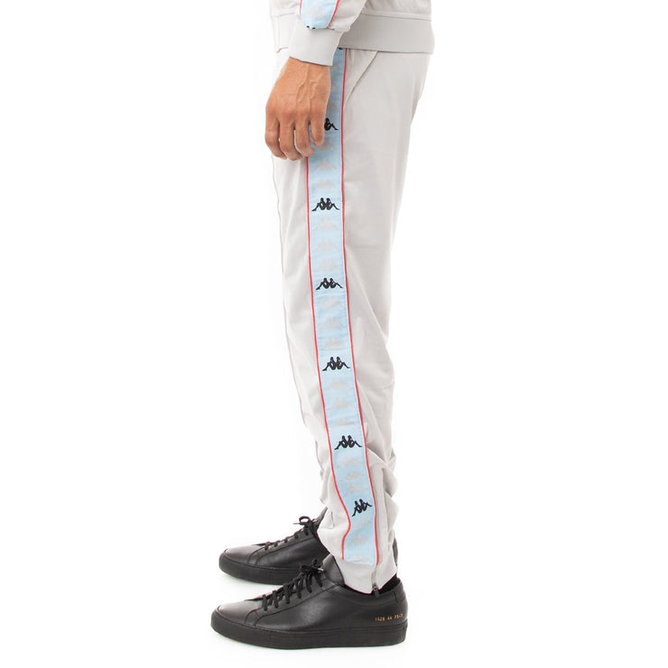 Kappa 222 Banda Deky Trackpants - Grey Blue Red