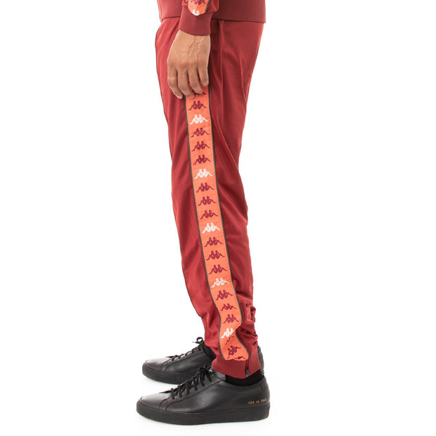 Kappa 222 Banda Deky Trackpants - Red Dark Orange Green
