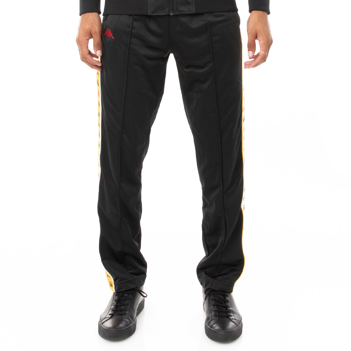 Kappa 222 Banda Dugrot Trackpants - Black Red Yellow Gold