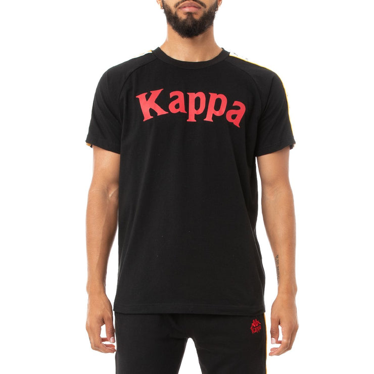 Kappa 222 Banda Deto T-Shirt - Black Red Yellow Gold