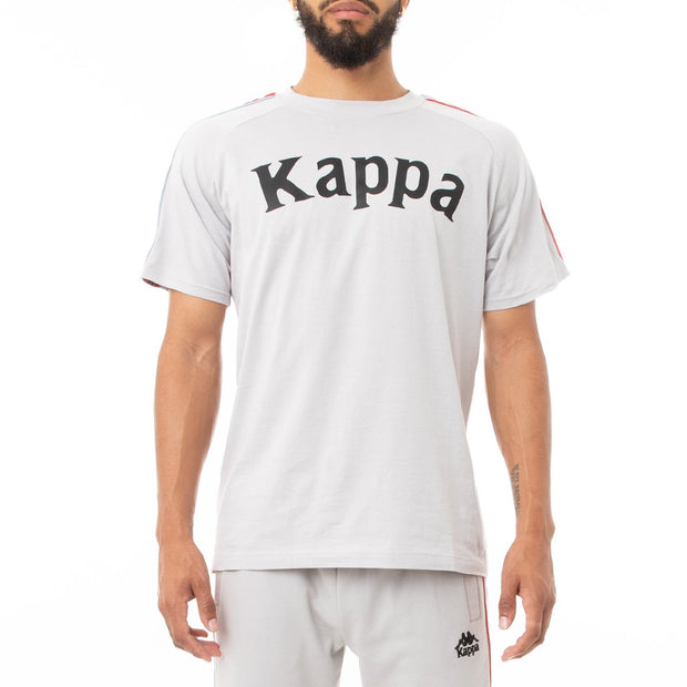 Kappa 222 Banda Deto T-Shirt - Grey Blue Red