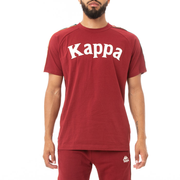 Kappa 222 Banda Deto T-Shirt - Red Dark Orange GreenKappa 222 Banda Deto T-Shirt - Red Dark Orange Green