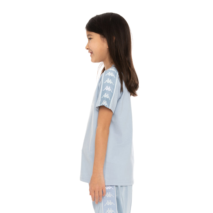 Kids 222 Banda Deto T-Shirt - Baby Blue White