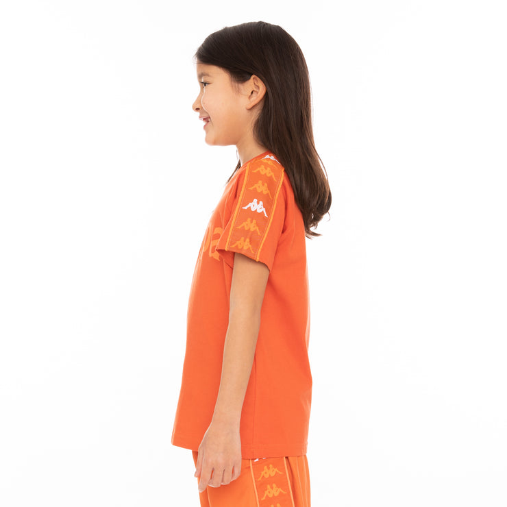 Kids 222 Banda Deto T-Shirt - Orange White