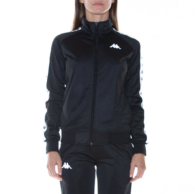 222 Banda Dolly Reflective Track Jacket - Black Reflective