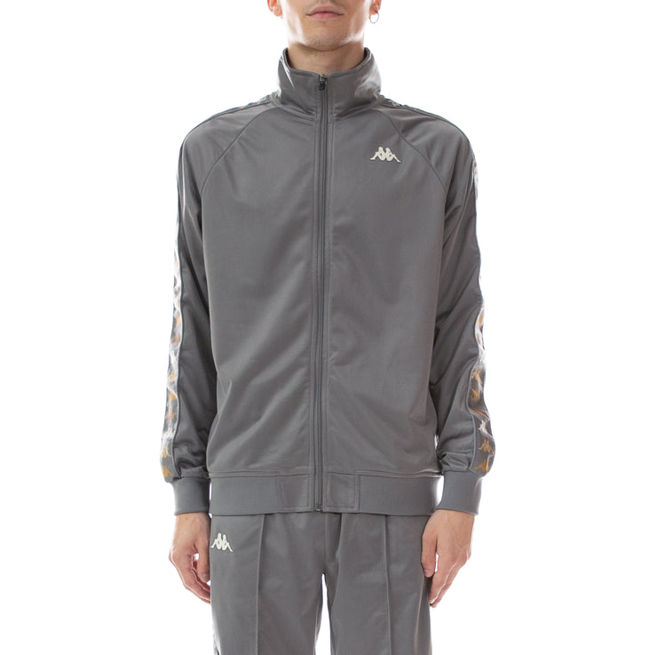 222 Banda Dullo Track Jacket - Dk Grey Melange Winter White