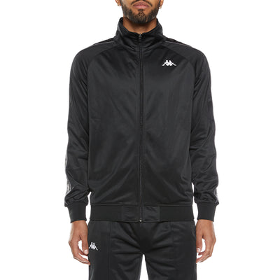 222 Banda Dullo Track Jacket - Black Grey White