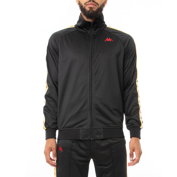 Kappa 222 Banda Dullo Track Jacket - Black Red Yellow Gold