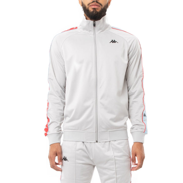 Kappa 222 Banda Dullo Track Jacket - Grey Blue Red