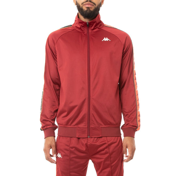 Kappa 222 Banda Dullo Track Jacket - Red Dark Orange Green