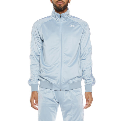 222 Banda Dullo Track Jacket - Baby Blue White