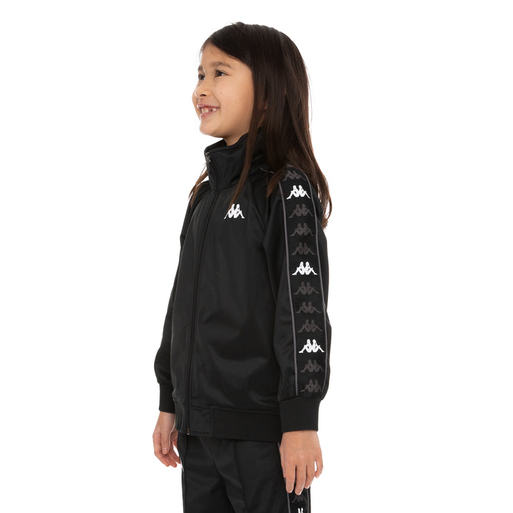 Kids 222 Banda Dullo Track Jacket - Black Grey White