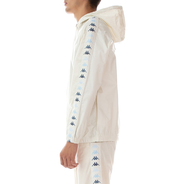 222 Banda Danlon Rain Jacket - White Egg Illusion Blue